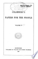 Chamber S Papers For The People