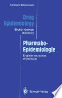 Drug Epidemiology   Pharmako Epidemiologie