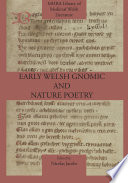 Early Welsh Gnomic and Nature Poetry