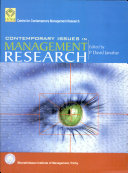 Contemporary Issues in Management Research
