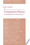 Comparative Poetics