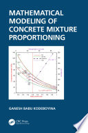 Mathematical Modeling of Concrete Mixture Proportioning Book