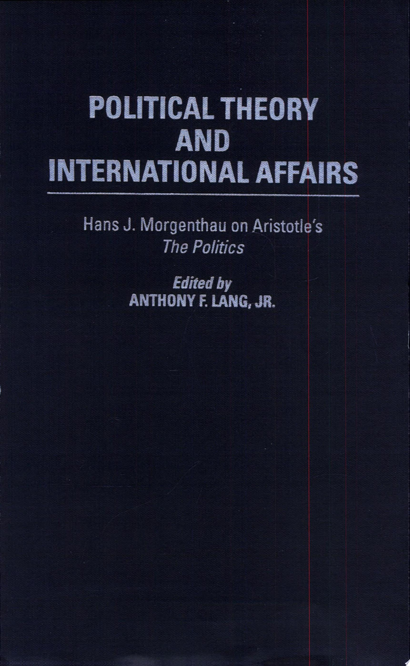 Political Theory and International Affairs