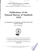 Publications Of The National Bureau Of Standards  1970