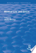 """""""Medical Law and Ethics"""" by Sheila McLean"""