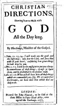 Christian Directions, shewing how to walk with God all the day long