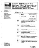 Human Services in the Rural Environment Book