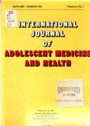 International Journal of Adolescent Medicine and Health