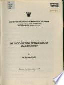 The Socio-cultural Determinants of Arab Diplomacy