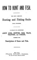 How to Hunt and Fish