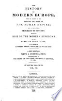 The History of Modern Europe  written by Charles Coote