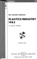 Dust Explosion Prevention: Plastics Industry, 1963