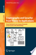 Cryptography And Security From Theory To Applications
