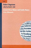Jewish Given Names and Family Names