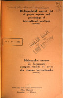 Bibliographical Current List Of Papers Reports And Proceedings Of International Meetings Monthly