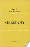Oecd Economic Surveys Germany 1978