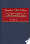 Creating Public Policy