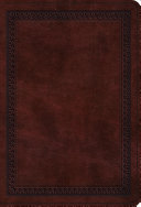 ESV Value Large Print Compact Bible (TruTone, Mahogany, Border Design)