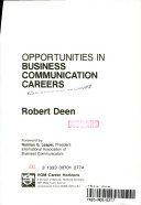 Opportunities in business communication careers