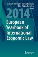 European Yearbook of International Economic Law 2014
