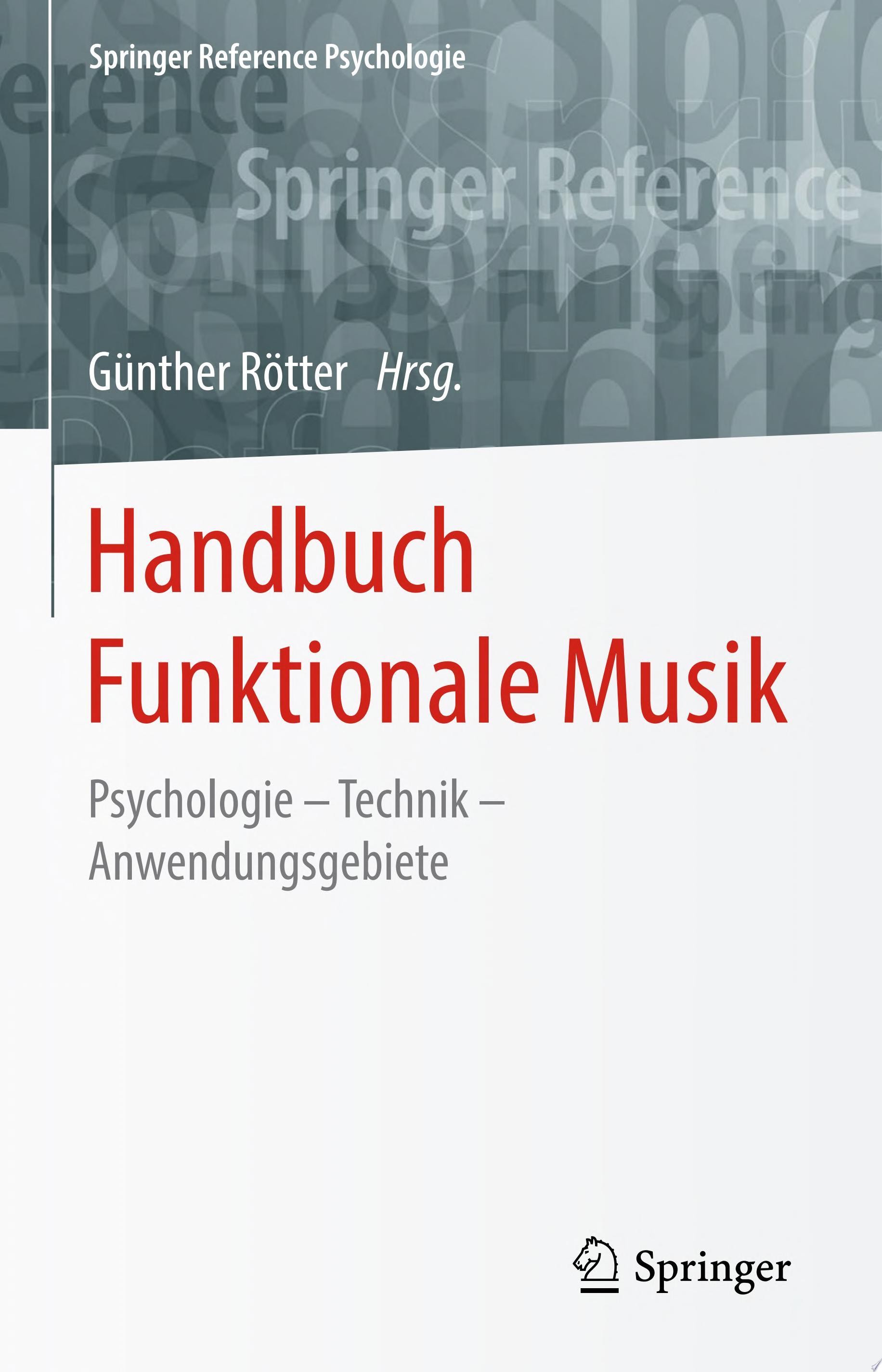 Handbuch Funktionale Musik