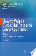 How To Write A Successful Research Grant Application Book PDF