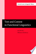 Text And Context In Functional Linguistics