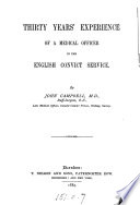 Thirty Years  Experience of a Medical Officer in the English Convict Service