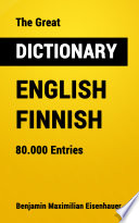 The Great Dictionary English   Finnish