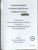 Literary Research On Traffic And Capacity In Wireless Systems