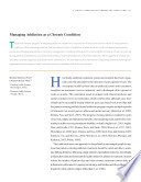 """Managing Addiction as a Chronic Condition: A Reprint from """"Addiciton Science and Clinical Practice"""""""