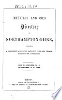 Melville and Co  s Directory of Northamptonshire