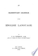 Elementary grammar of the English language