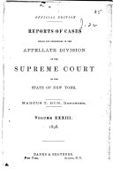 Reports of Cases Heard and Determined in the Appellate Division of the Supreme Court of the State of New York