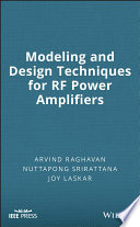 Modeling and Design Techniques for RF Power Amplifiers