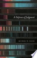 A Defense of Judgment