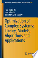 Optimization Of Complex Systems Theory Models Algorithms And Applications Book PDF