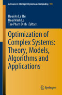 Optimization of Complex Systems: Theory, Models, Algorithms and Applications
