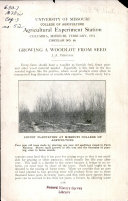 Growing a Woodlot from Seed