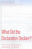 What Did the Declaration Declare  Book