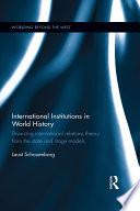 International Institutions in World History