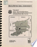 Rock River Area Assessment: pt. I. Socio-economic profile. pt. II. Early account of the ecology of the Rock River Hill country