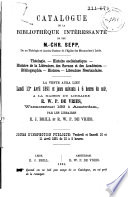 Veilingcatalogus, boeken van Chr. Sepp, 13 tot 21 april 1891