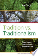 Tradition Vs Traditionalism Book
