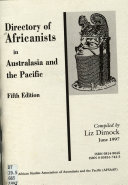 Directory of Africanists in Australasia and the Pacific