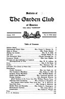 Bulletin of the Garden Club of America Book