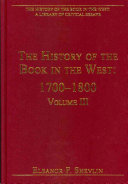 The History of the Book in the West  1700 1800