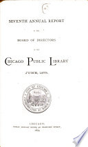 Annual Report Of The Board Of Directors Of The Chicago Public Library