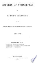 Reports of Committees of the House of Representatives Book PDF