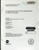 Computational Study of Flow Establishment in a Ram Accelerator